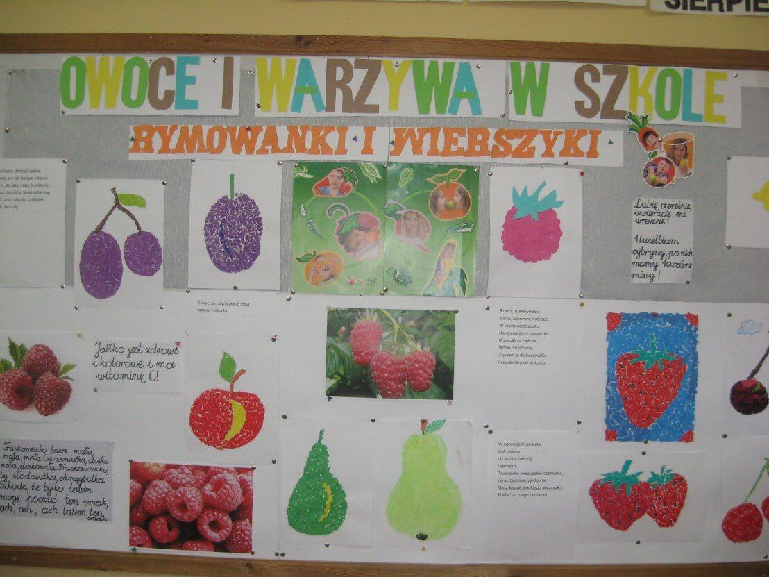 Owocowo Warzywne Wierszyki I Rymowanki Szkoła Podstawowa